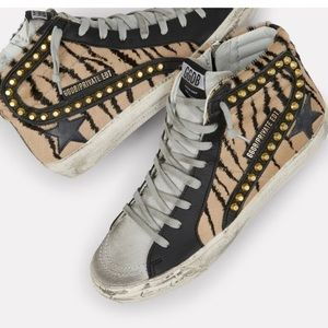 Golden Goose Tiger Studded Slide Sneaker 40